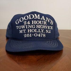 Vintage trucker snapback hat towing service